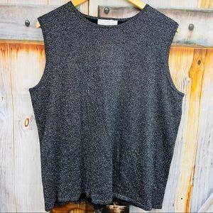SUSAN GRAVER Sparkly Sweater Vest
